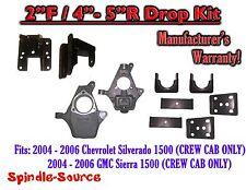 "2004 - 2006 Chevy Silverado GMC Sierra CREW CAB ONLY 2/4"" - 2/5""  DROP KIT"