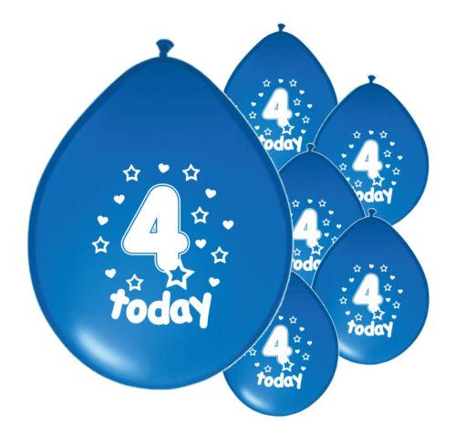 """30 x 4th Anniversaire Garçon Ballons/"""" 4 aujourd/'hui /""""Anniversaire Ballons Bleu PA"""