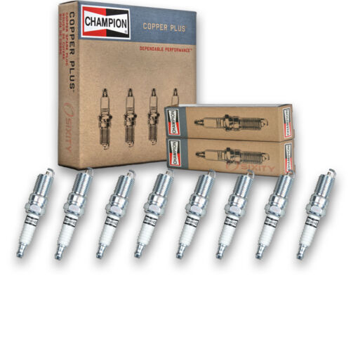 Auto Pre kh 8 pc Champion Copper Spark Plugs for 1984-1996 Cadillac Fleetwood