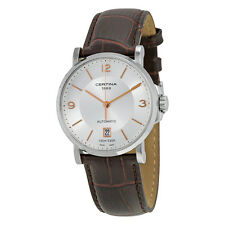 Certina DS Caimano Automatic Silver Dial Brown Leather Mens Watch