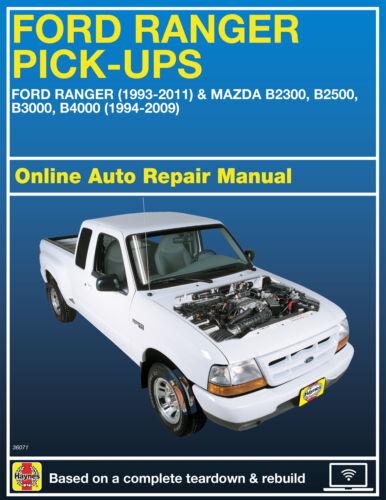 1999 Ford Ranger Haynes Online Repair Manual-Select Access