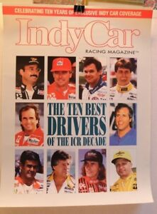 INDY-CAR-RACING-MAGAZINE-POSTER-10-BEST-DRIVERS-UNSER-ANDRETTI-FABI-RAHAL-amp-MORE