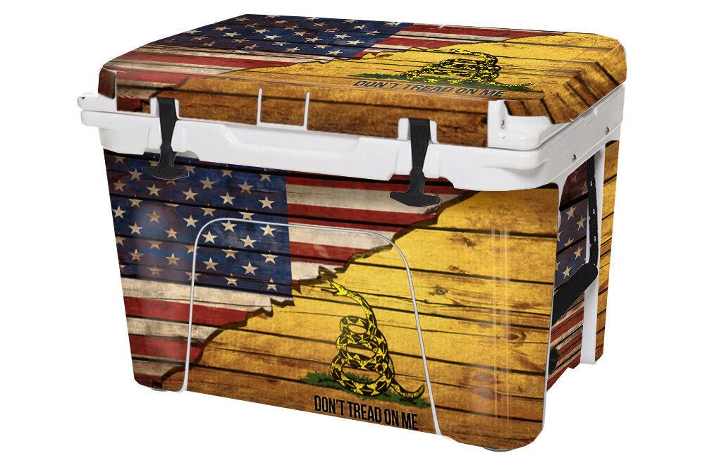 USATuff Custom Cooler Cooler Cooler Wrap fits YETI Tundra 125qt FULL USA Gadsden Splt TROT d8bd90