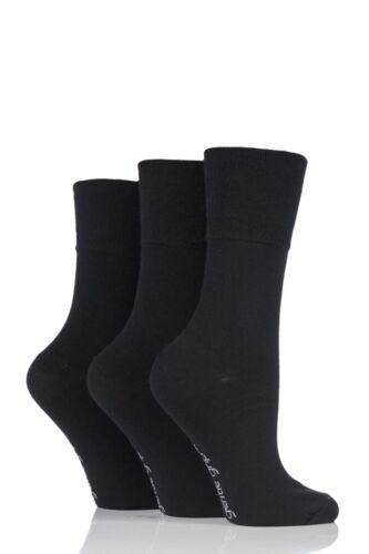 3 Ladies Gentle Grip® Cotton Rich Non Elastic Socks UK 4-8