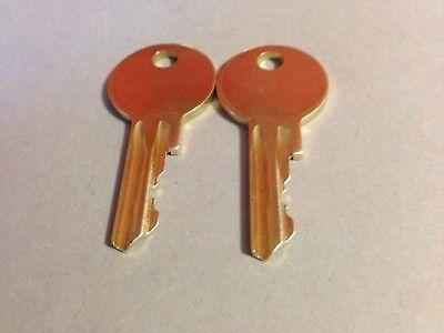 1 Leer Bauer Key Code J301 thru J350 Replacement Keys T-Handles-Campers