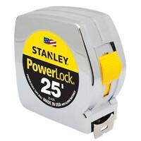 "NEW STANLEY 33-425 1"" X 25' FOOT FATMAX POWER RETURN TAPE MEASURE RULER SALE"