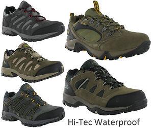 Hi-Tec-Cuero-Impermeable-Para-Senderismo-Y-Zapatillas-Zapatos-Para-Caminar-Baja-Para-Hombre-UK7-16