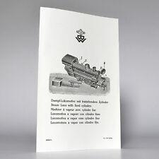 BING Gebrauchsanweisung (instruction) Dampf-Lokomotive (steam loco) , Reprint