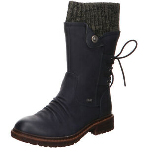 Rieker-Antistress-Damen-Schuhe-Stiefel-Stiefelette-Boots-94750-14-blau-TEX