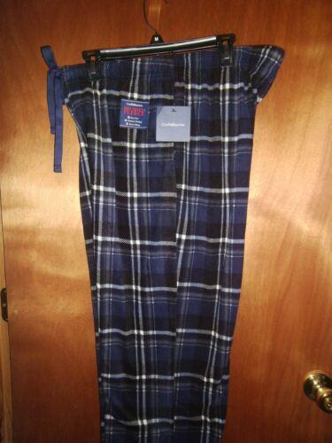Croft Barrow Men Lounge Pajama Pants Navy Black Plaid Brushed Fleece M L XL NWT