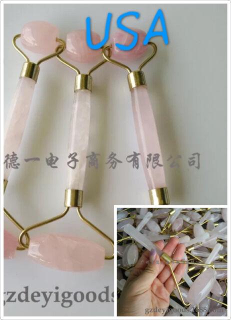 NATURAL Rose Quartz Crystal roller Massage Wand Powerful Healing