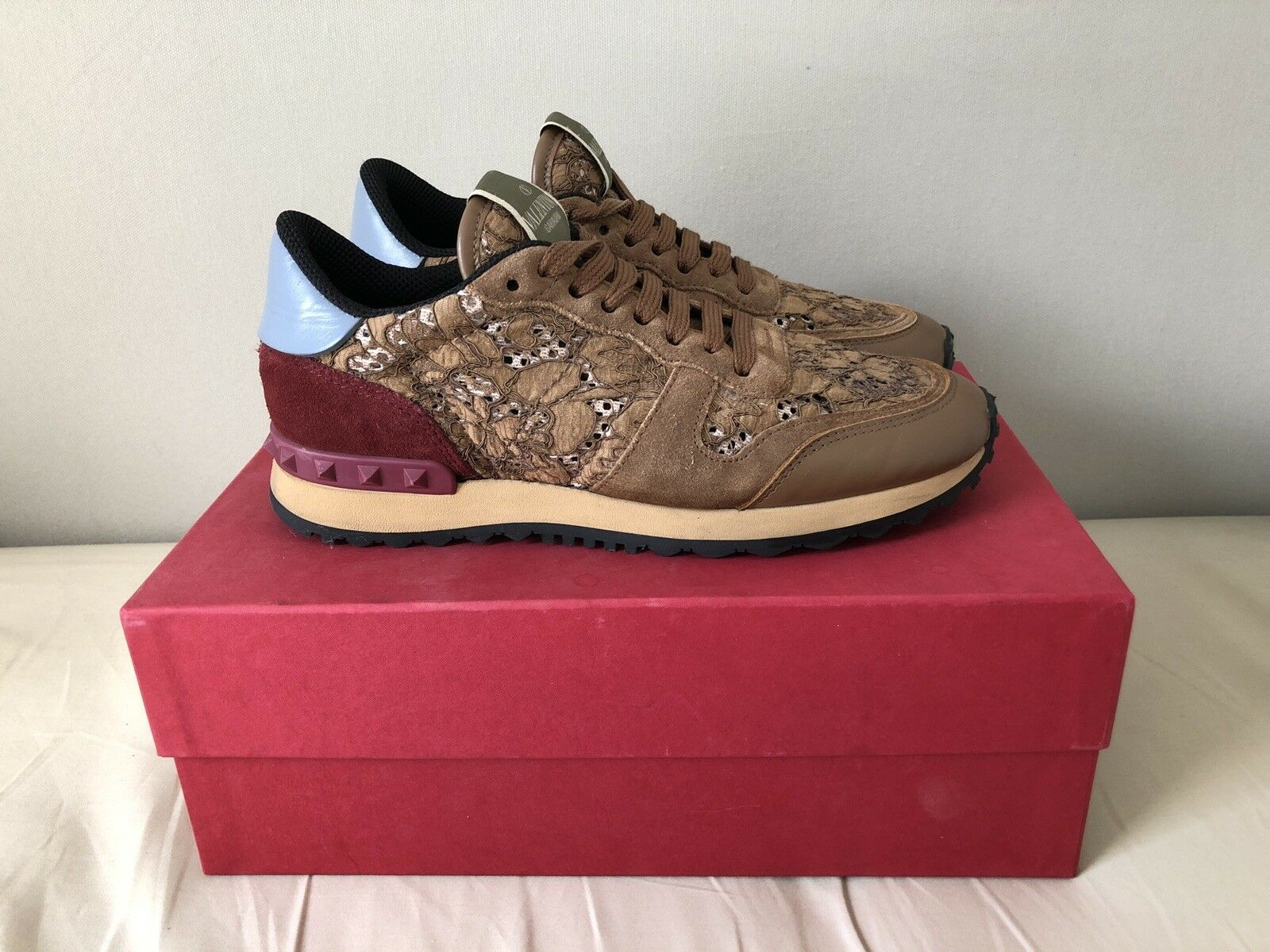 Herren Rieker Trekking Schuhe blau Größe 41 42 Sneaker 08065
