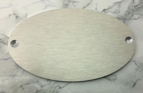 mit Ihrer WUNSCHGRAVUR 100x62mm oval TÜRSCHILD Aluminium in Edelstahl-Look
