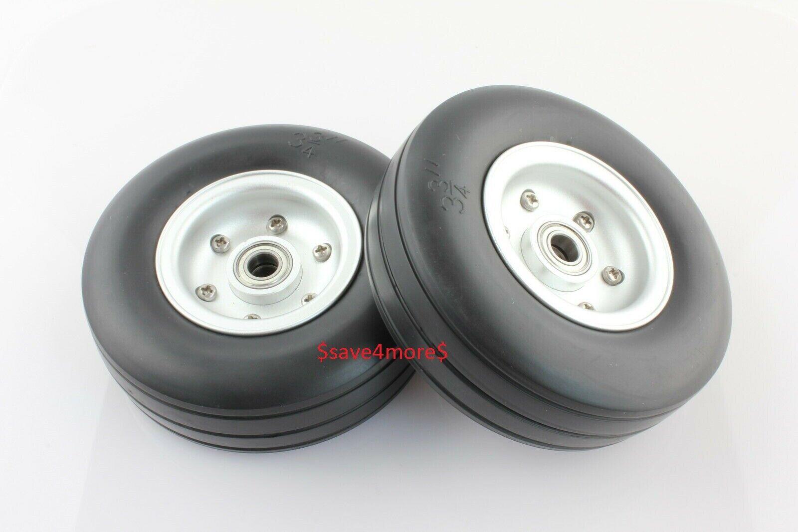 3.75  in tuttiuminio Lega Core Ruote PNEUMATICI di gomma naturale per l'aereo RC modellolo