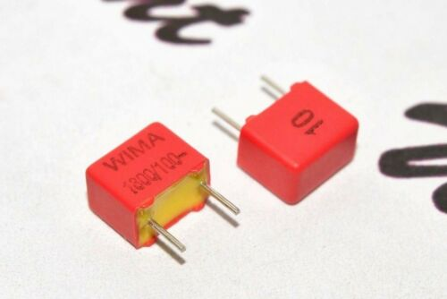 1800pF 1.8nF 10pcs WIMA FKP2 1800P 100V 10/% pitch:5mm Capacitor