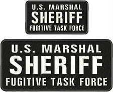 MARSHAL SHERIFF FUGITIVE TASK FORCE EMB PATCH 4.75X11/&3X6HOOK//MULT//BLK U.S