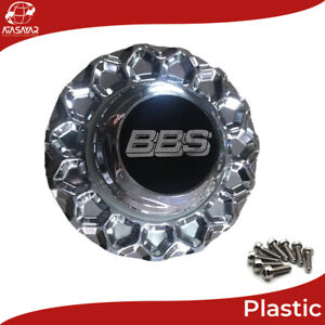 OEM BBS RS 2 Chrome, Chrome Plated Plastic Wheel Center Caps Rim Hub Cap Emblem