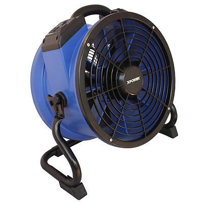 XPOWER X-39AR 2100 CFM Industrial Sealed Motor Axial Fan Air Mover w Outlets