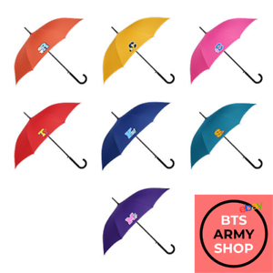 OFFICIALLY LICENSED AUTHENTIC BT21 | AUTOMATIC EMBLEM UMBRELLA