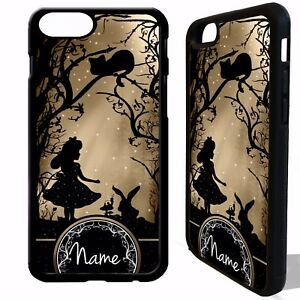 newest 53621 61dae Details about Alice in wonderland personalised name case cover for iphone 5  6 6S 7 8 plus X