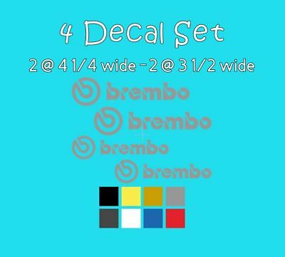 4 Brembo Decal Sticker Vinyl Caliper Brake 4 1//4 /& 3 1//2 for 6 /& 4 Piston Black
