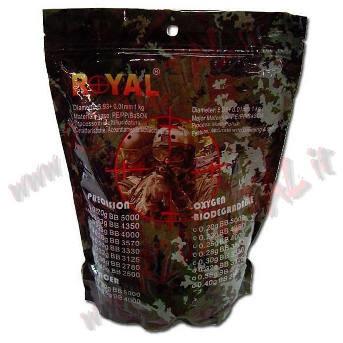BOULETTES EN FORME D'ENVELOPPE ROYAL PRECISION 1Kg 3570 Pcs BB 0.28 Gr PLASTIQUE