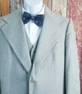 c260bb41ddcd40 Vintage 3 Piece Suit 40 Long 33x34 Gray & Blue Pinstripe Wool Pants ...