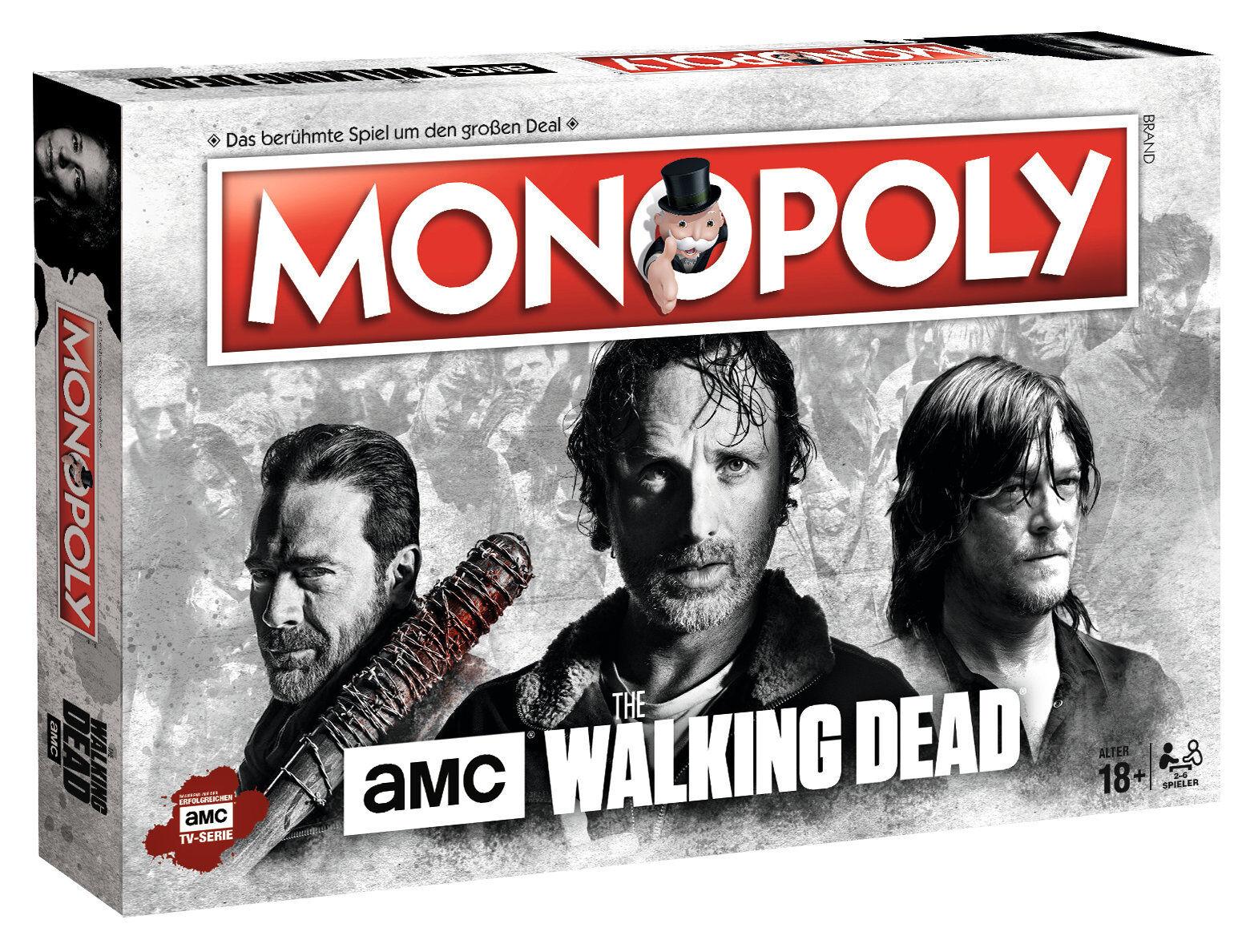 Monopol walking dead amc twd spiel partyspiel brettspiel deutsche