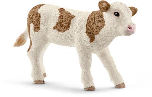 5-1-3 SCHLEICH macchia bestiame-VITELLO schleichtiere schleichtier MUCCA cavallerizza 13802