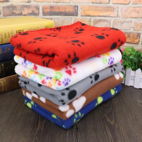Fleece Cozy Pet Dog Cat Blanket Soft Bed Cover Warm Sleeping Mat Mattress Kennel
