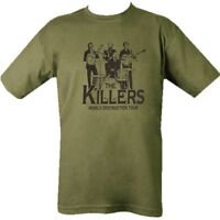 MILITARY T-SHIRT THE KILLERS 100% COTTON BRITISH ARMY WW1 WW2 MENS CLOTHING TOP