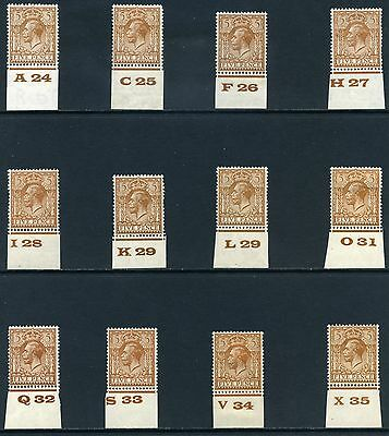 1924 KGV Block Cypher 5d Control Singles S.G. 425