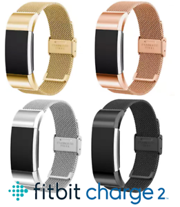 Metal-Fitbit-Charge-2-HR-Replacement-Band-Strap-Secure-Wristband