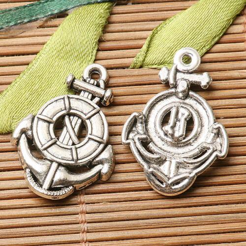 7pcs dark silver color boat anchor design charms  EF2807