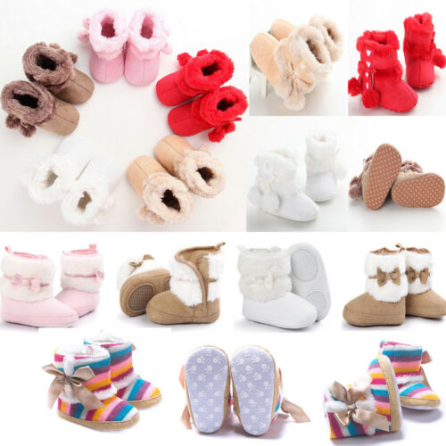 Winter Baby Girl Soft Sole Warm Snow Boots Soft Crib Shoes Toddler Boots