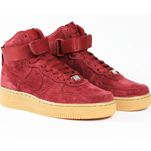 f183dc049d4e16 Nike Air Force 1 Hi Suede Maroon gum Women Size 7.5 749266 600 for ...