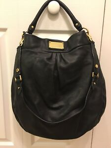 0805ad31ef282 Marc By Marc Jacobs Black Leather Classic Q Hillier Hobo Shoulder ...