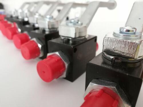 2//2 Wege M22X1,5 15L Hydraulik metrische Kugelhahn Absperrhahn Hochdruck NEU