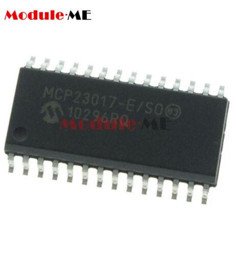 5PCS MCP23017 MCP23017-E//SO SOP-28 16-Bit I//O Expander I2C Interface IC