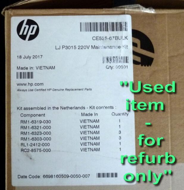 HP OEM HP P3015 OEM Maintenance Kit Office Electronics Printer ...