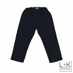 Pantalone in Caldo Cotone Blu inTinta Unita Neonato Muffin&Co 6733