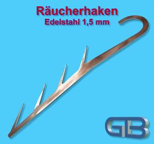 Raeucherhaken-17cm-Edelstahl-Forelle-Aal-Makrele-Hering-Fleisch