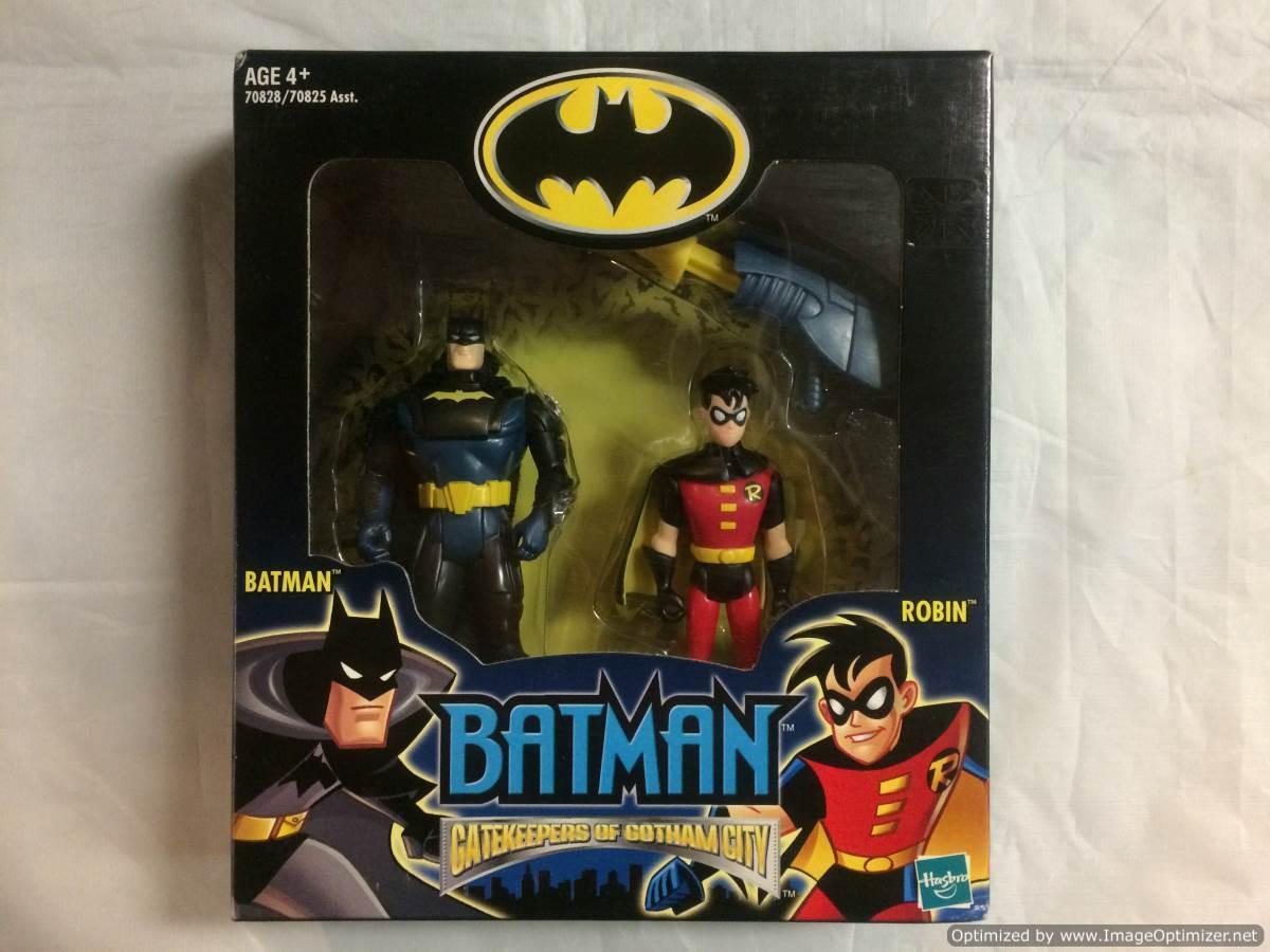 Batman Gatekeepers of Gotham City batman and Robin Figure Set Hasbro 2002