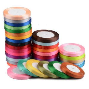 25-Yards-Satin-Ribbon-Craft-Birthday-Party-Wedding-Sewing-Decoration-6mm-to-50mm