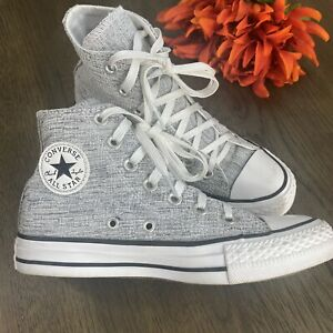 Womens-Converse-553411F-All-Star-Chuck-Taylor-Sparkle-Knit-Hi-Top-Shoes-Size-5