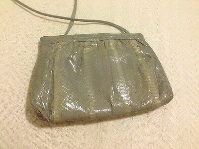 Vintage Pierre Cardin Shoulder Bag Snakeskin Leather