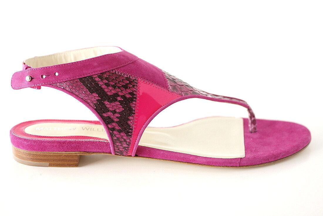 grandi offerte MATTHEW WILLIAMSON scarpe hot rosa suede snake neon patent patent patent 40 10 BNIB  consegna veloce