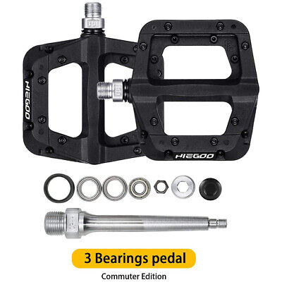 """Bike Bearing Wide Nylon Pedals MTB BMX 9//16/""""  20 Spare Pins Included,Black"""
