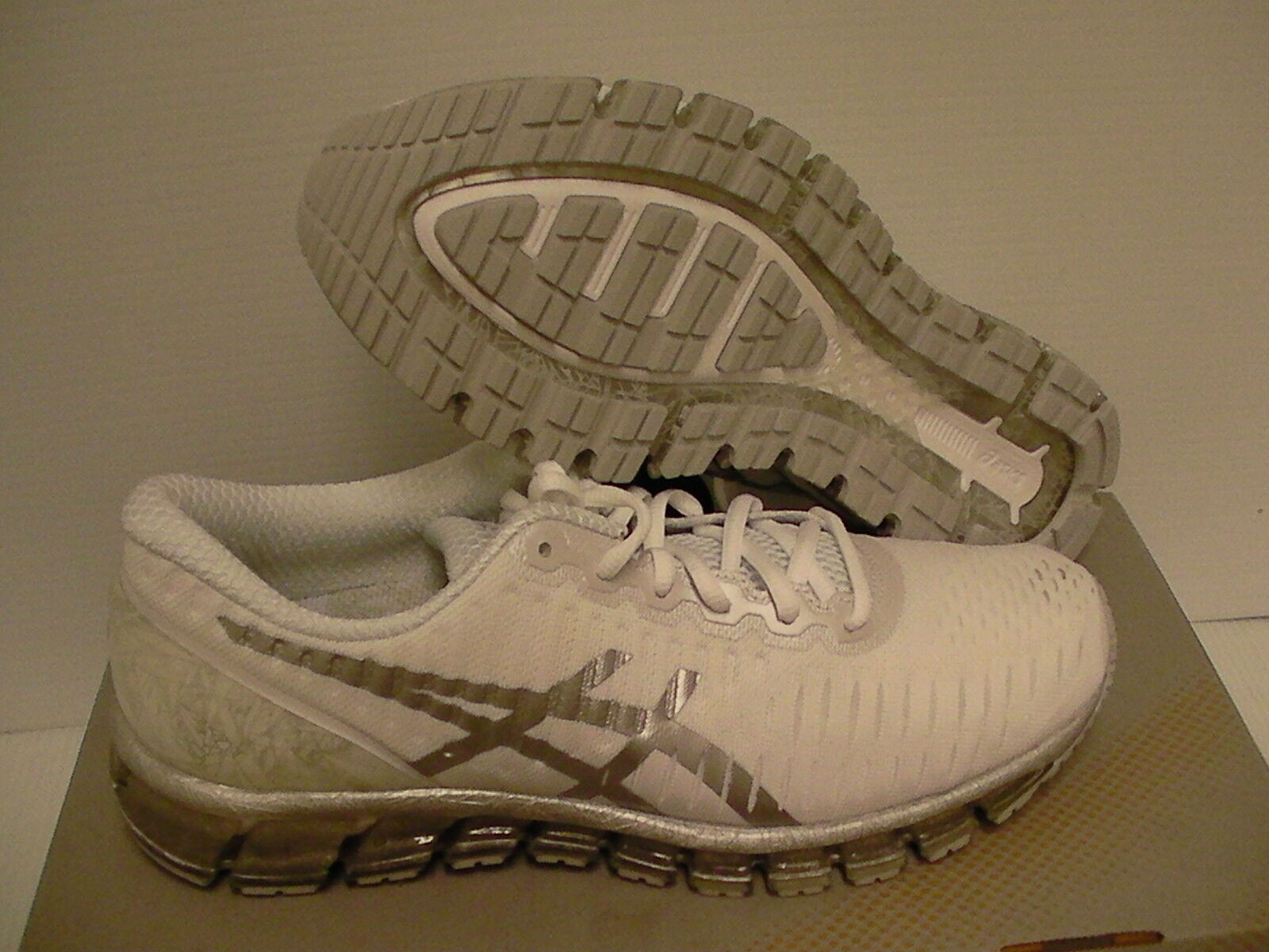 Women's Asics running shoes gel quantum 360 white silver snow size 9.5 us