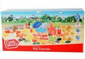 Chad Valley PLAY FOOD SET Sainsburys 120 Pieces Age 3+ Shopping Toy Gift Kit NEW